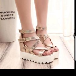 Gold new sandals