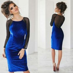 Dress velor and mesh 42 new in stock