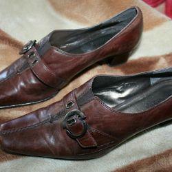 Туфли кожаные р.40