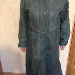 Пальто / плащ женское кожанное утепленное