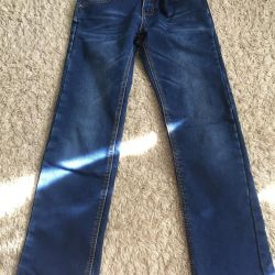 Jeans warmed to height 140