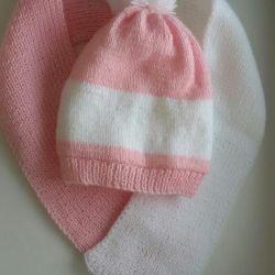 Children's set hat scarf new