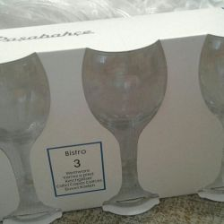 Wine glasses are new in the package.