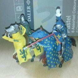 Knights on horseback Blue Box 2004