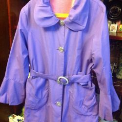 Raincoat for a girl of 8 years