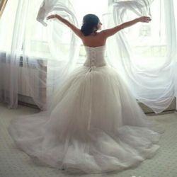 Wedding dress, bridesmaid dress