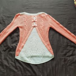 Jacket, sweater, warm knitted