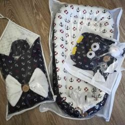 Set: blanket, nest, pillow and comfort