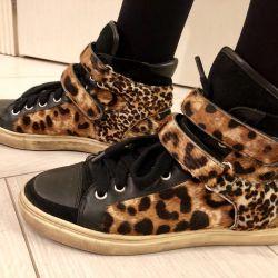 Velcro yüksek çizmeler / spor ayakkabı Maje