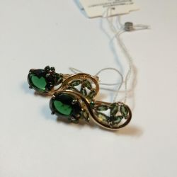 Earrings 585 new with tourmaline