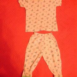 Pantaloni și tricou pentru 6-8 luni, 50 ruble.