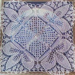 Napkin. Manual knitting.