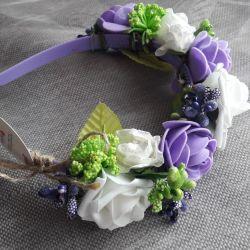headband wreath handmade