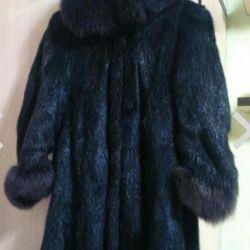 Fur coat from beaver solution 52