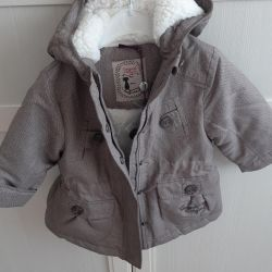 Park jacket warmed girls New.1.5-2.5 years old