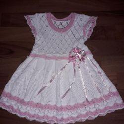 Elegant summer dress on the girl