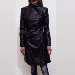 Leather raincoats