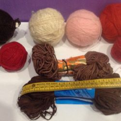 Yarn and thread for needlework