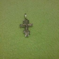 Крестик серебро 925 пробы 3.3 см 2гр