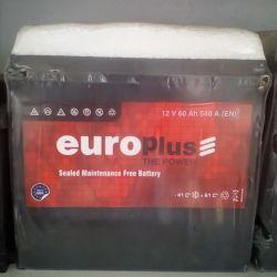 Аккумулятор EUROPLUS 60AH 540A Asia