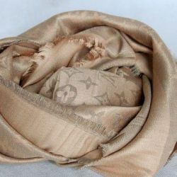 Scarf lv sand with lurex