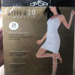 5 pairs new, Tights Omsa Attica 20 den solution 2, 5 pairs