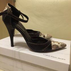Σανδάλια-παπούτσια Carlo Pasollini (δέρμα)
