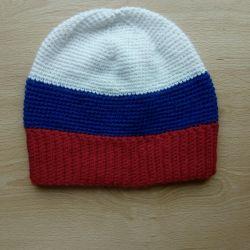 Handmade cap flag of Russia