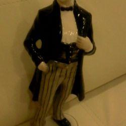 Porțelan figurine Chaliapin aurite