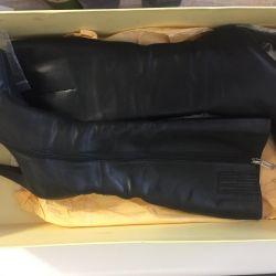 Γυναικείες χειροποίητες δερμάτινες μπότες γυναικών