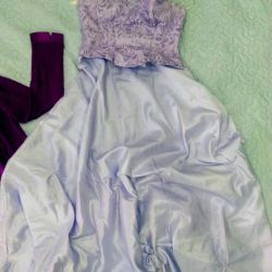 Dress on the floor for the holiday