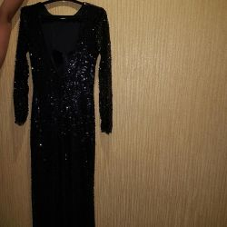 Elegant evening dress with an open back