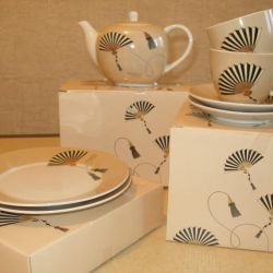 Tea set for 2 persons porcelain Gift