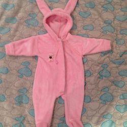 Coverall plush rabbit 68r + gift