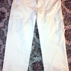 Erkek kot pantolonlar, beyaz W36 L33