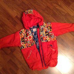 Bir kız için Demi-sezon takım elbise 116-122
