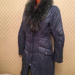 Mărimea jachetei în jos S gulerul de blană faux
