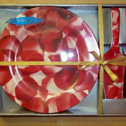 Tableware gift new set Tortnica Dish and spatula