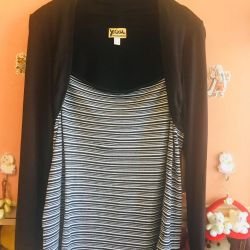 Stylish blouse with a bolero imitation