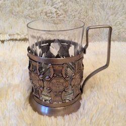 Glass of nickel, crystal vintage