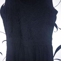 Платье.верх отделан кружевом