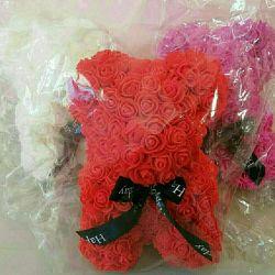 Teddy Bear from 3D roses