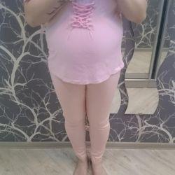 Hamilelik için kot + tişört