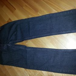 2 pairs of black cotton jeans