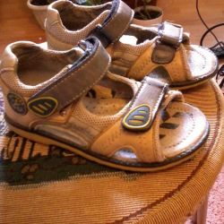 sandals for the boy, Pinocchio, used, 26 rr,