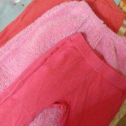 Детские вещи пакетом.бу.12шт.для домашнего ношения
