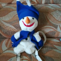 New! Backpack Snowman