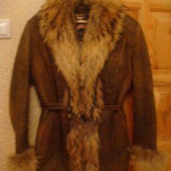 leather jacket on podstezhke (natural fur)