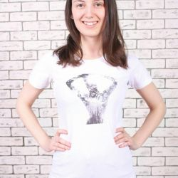White women's T-shirt + watch for children as a gift!
