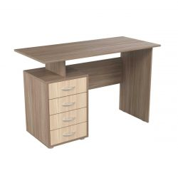 Writing desk with 4 drawers